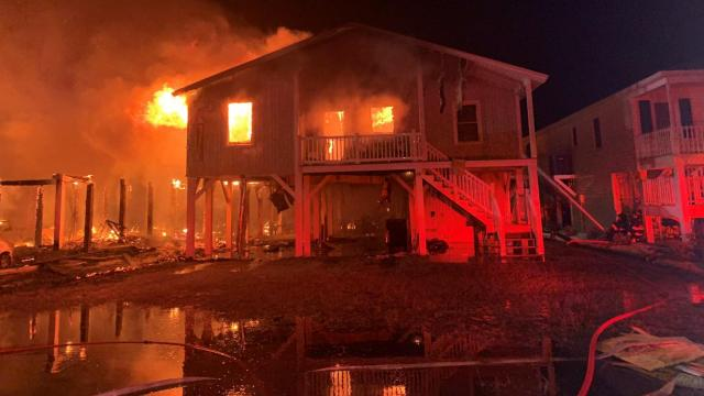 Days after Isaias, another large fire destroys Ocean Isle Beach homes