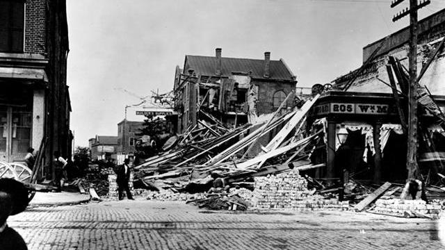 Charleston, SC after the earthquake in 1886. Image courtesy of USGS