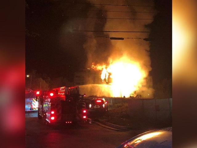 A fire broke out at apartments under construction in Durham. Fire officials say the fire has been put out.