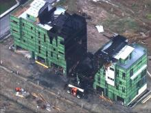 Fire burns at luxury townhomes under construction in Durham