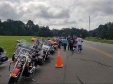 Motorcycle Rally held in Goldsboro in support of Cannon Hinnant who was shot and killed this month. Photo submitted by Marilyn Turnage.
