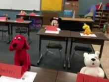 Third grade teacher finds creative way to teach to empty classroom