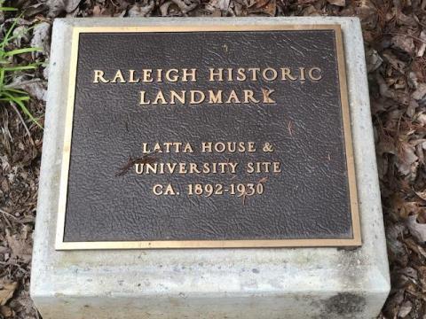 Latta House & University Site Historic Landmark
