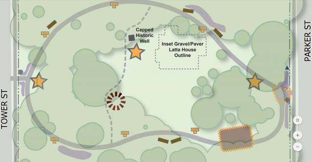 Map of Latta University History Park. Courtesy of the Latta University Historic Park Master Plan
