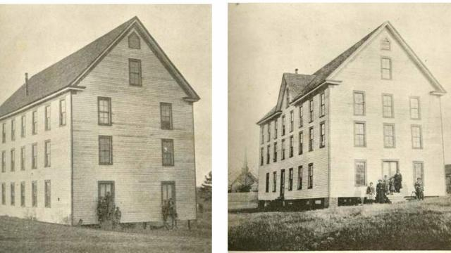 Latta University dormitories. Photo Credit: The History of my Life and Work. Autobiography by Reverend Latta, published 1903