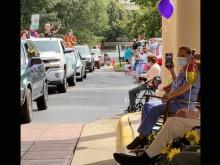 Miriam Jones celebrated her 107th birthday with a parade of loved ones, balloons and flowers at an assisted living facility in Raleigh.