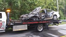 IMAGES: Veteran honored for saving man from fiery Middlesex crash