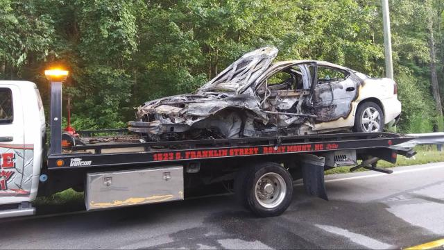 Middlesex fiery crash