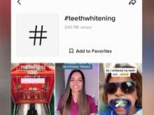 TikTok teeth-whitening videos