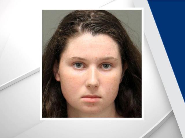 Caroline Quinn Gayle, 18, was arrested for vandalizing a Trump sign