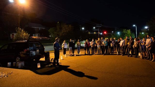 A vigil was held on Friday night to celebrate Banks' life. Photo submitted by a friend of Banks.