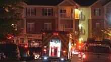 IMAGE: Crews battle fire at Raleigh apartment complex