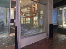 Durham protest damage (Sept. 23, 2020)
