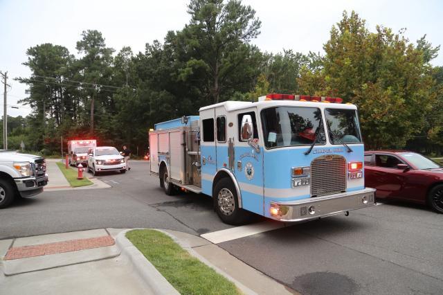 Jason Dean fallen firefighter procession (Clayton Fire Department photo)