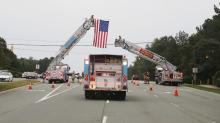 IMAGES: 13-mile procession in Clayton honors firefighter who died from COVID-19