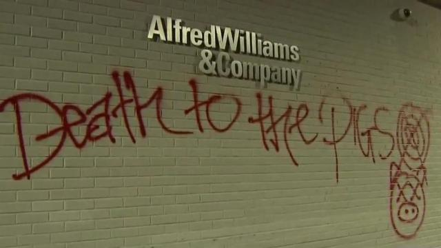 Alfred Williams & Company was vandalized during protests on Sept. 26