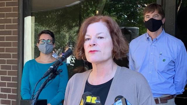 Mayor of Raleigh Mary-Ann Baldwin speaks at a press conference about vandalism, protests on Sept. 27, 2020