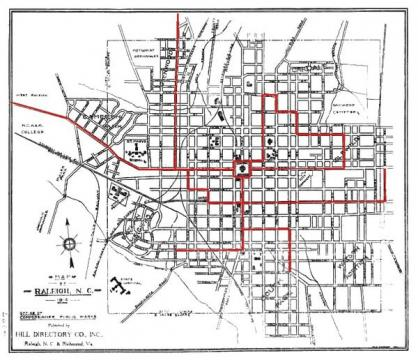 Streetcar map for Raleigh.