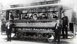 The Raleigh Street Railway Co. was the trolley line that went to Brookside Park. This appears to be the trolley for Fayetteville Street, Blount street and Polk Street, and likely was the streetcar that went to Brookside Park. (Image courtesy of the State Archives of North Carolina).