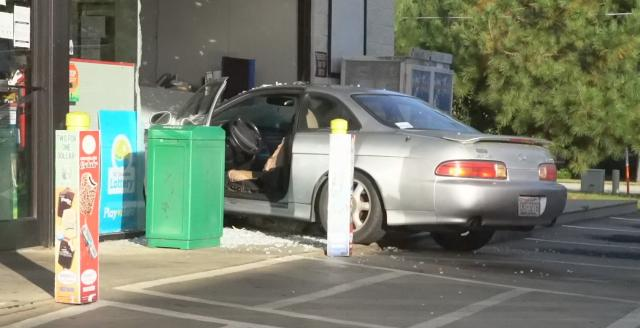 Driver runs car into BP gas station in Clayton