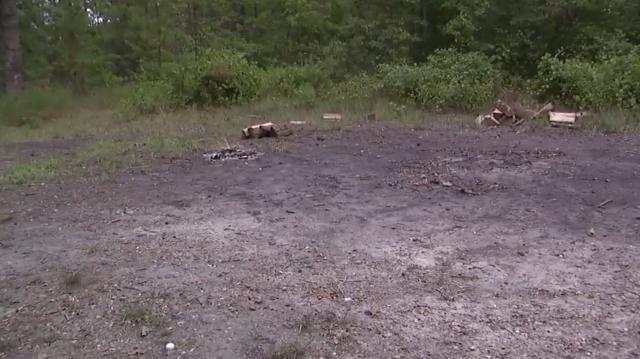 Devil's tramping ground in Bear's Creek, North Carolina