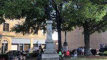 IMAGES: Lexington removes Confederate monument overnight