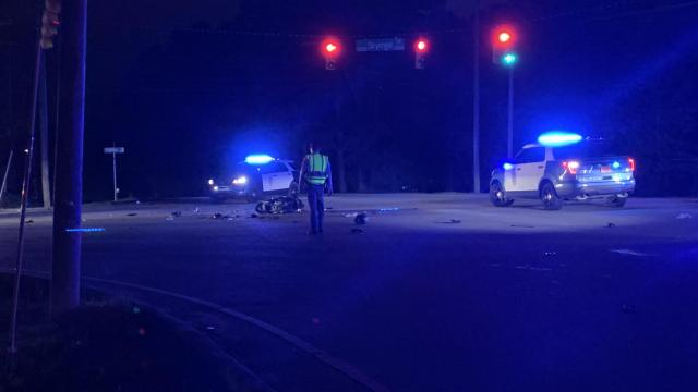 Moped crash in Raleigh (Oct. 16, 2020)