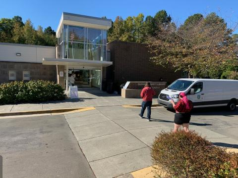 North Regional Library voting site in Durham is back up and running after power outages on Saturday morning.