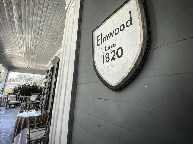 Elmwood was built in 1820, then had a major expansion in the 1860s.