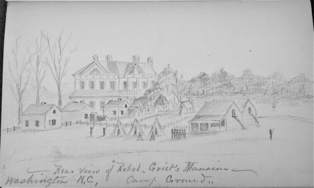 A sketch of Elmwood when it was used as Fort Ceres.