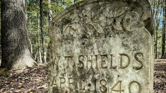 Centuries-old headstones are around Cabelands Cemetery, but only 12 graves have official markers.
