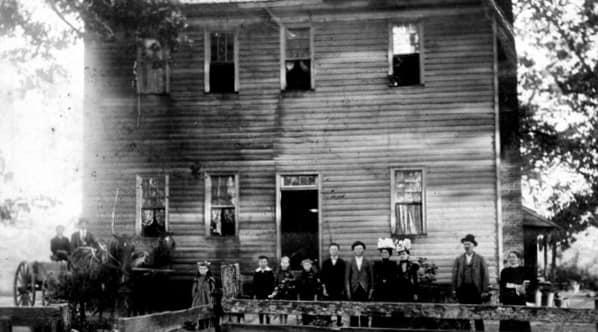 Historic photo of the High House in Cary, which is said to be haunted.