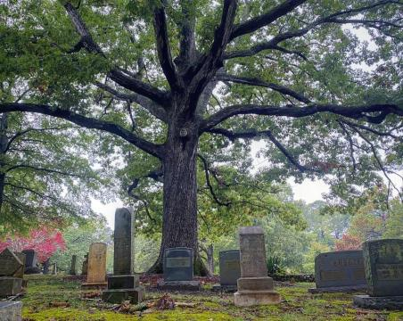 Hillcrest Cemetery, where the virtual haunted tour will take place.