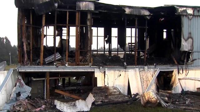 Fire sparks at empty Harnett County home