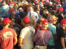 Several people pass out at Trump rally