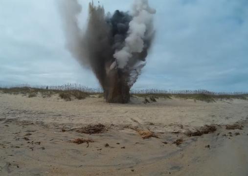 Detonation of WWII bomb