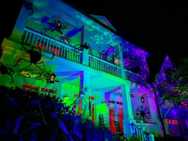Best Halloween lights and decor in the Triangle.