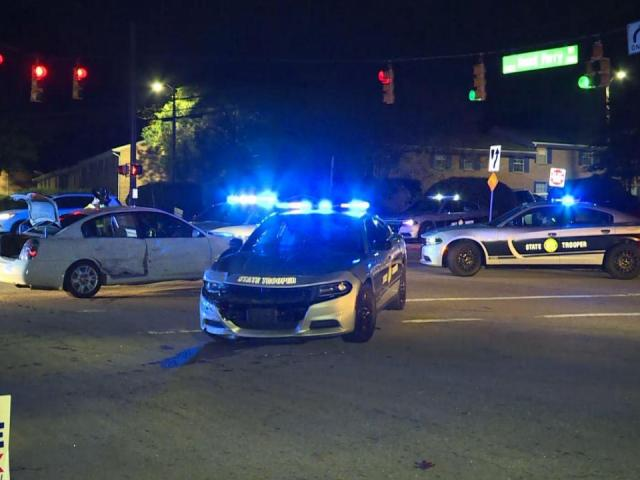 Patrol cars damaged after man leads troopers on high-speed chase