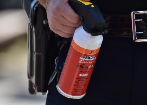 """The """"pepper spray-based vapor"""" used on a crowd in Graham, NC. Photo taken by Anthony Crider, photographer and professor at Elon University."""
