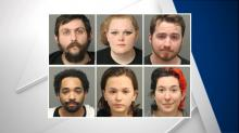 IMAGES: 'Whoever wins, we lose:' Six arrested among around 200 protesters in downtown Raleigh march