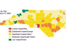 NC coronavirus hotspot map