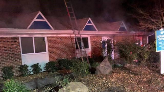 Fire damages leasing office at Durham apartment complex