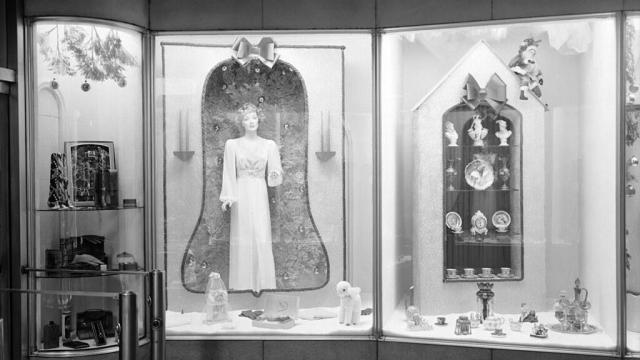 Christmas window display by Taylor in 1946 (image courtesy of the State Archives of North Carolina)