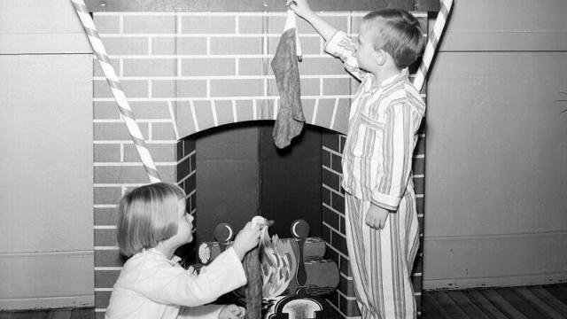 Christmas at the Methodist Orphanage in 1951.  (Image courtesy of the State Archives of North Carolina)