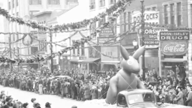 Vintage photo of the Raleigh Christmas Parade that began in 1939.