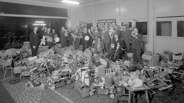Lions Club Toy Collectors for Christmas Needy Dec 1944. (Image courtesy of the State Archives of North Carolina)