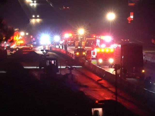 No major injuries after chain reaction crash on I-40 at Jones Sausage Road