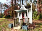IMAGES: Mysterious miniature house: Hidden remains of a popular Christmas Village from the 1960s