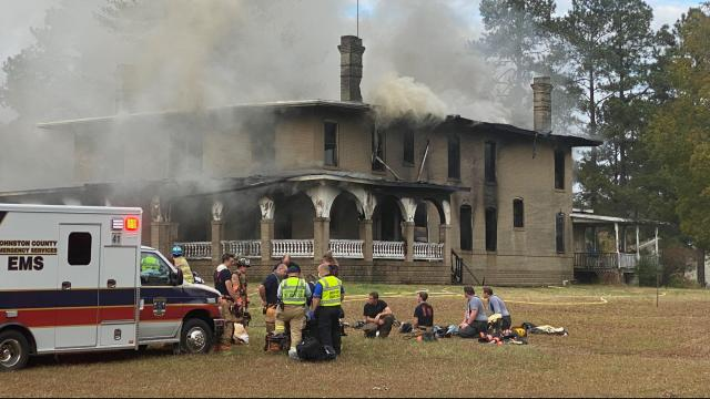 An older, vacant home caught fire in Clayton on Wednesday afternoon.