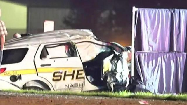 Nash County deputy seriously injured in rollover crash